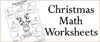 free christmas math worksheets first grade christmas