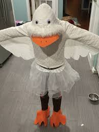 no sew goose costume white thrift hooded sweater white tutu