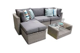 rattan corner sofa manchester 5pc rattan modular corner sofa patio set whitewash