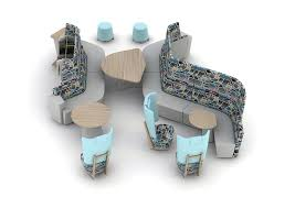 Rhyme Desk Rhyme Seating Modular Landscape Island Seating
