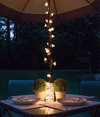 Patio Umbrella String Lights Patio String Lights And Bulbs Lighted Centerpieces Umbrella