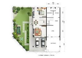 house site plan pearl harmoni storey terrace house site floor plan