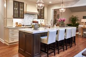 brown and white kitchen cabinets white cabinets with woodland brown island cabinets