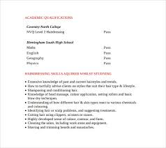 Hairdresser Resume Examples by Sample Hair Stylist Cv Template 6 Free Documents Download In