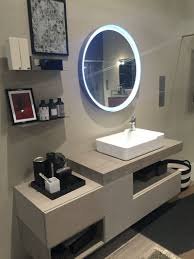 equally functional and stylish bathroom storage ideas round led mirror and shelves for storage bathroom