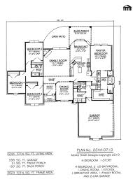 One Story 4 Bedroom House Floor Plans by Modern 1 Story House Plans