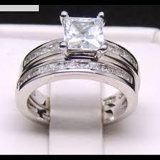 princess cut wedding set 41 collection jewelry princess cut wedding set