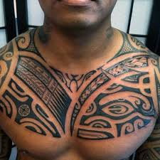 collection of 25 polynesian shoulder and chest tattoos for
