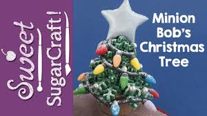 christmas tree cake topper tutorial minion bob u0027s christmas tree