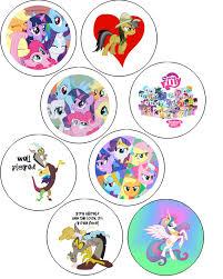 doodlecraft my little pony button badges