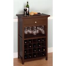 Wood Audio Rack Amazon Com Winsome Wood Wine Cabinet With Drawer And Glass Holder