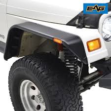 power wheels jeep hurricane modifications amazon com eag flat style front rear fender flares with side