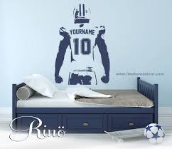 football wall decal custom football wall art choose name