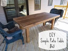 Plans To Build Wood Patio Furniture by Let U0027s Just Build A House Diy Simple Patio Table Revisited