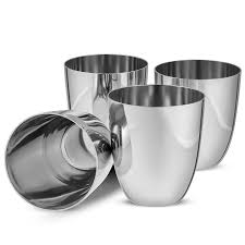stemless martini glasses with chilling bowls amazon com finedine unbreakable stainless steel drinking glasses