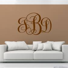 monogram wall decals personalise your rooms and walls monogram wall decals monogram and personalize your walls