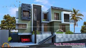 duplex plans with garage in middle floor plans duplex house designs craftsman donovan modern kerala