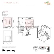 1 bedroom with loft floor plans 1 bedroom loft tropika east