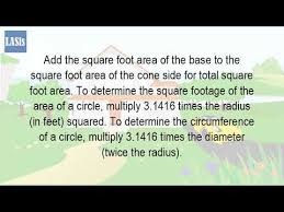 total square footage calculator how do you calculate the square footage of a cylinder youtube