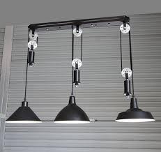 pulley pendant light fixtures adjustable diy silver pulley pendant l dining room bar retro