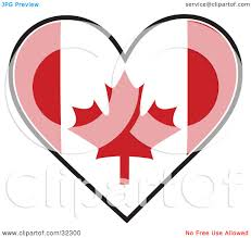 clipart illustration of a red and white maple leaf canadian flag