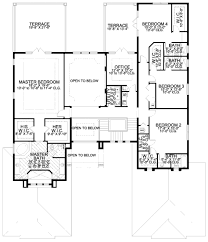 open floor plan ranch style homes mediterranean style house plan 6 beds 7 50 baths 6175 sq ft plan