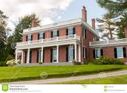 elegant brick mansion stock photo image 32972780