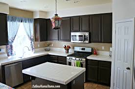 Kitchen With Painted Cabinets How To Refinish Your Kitchen Cabinets Latina Mama Rama