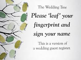 wedding guest register fingerprint guestbook tree wedding or event design