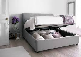 Fabric Ottoman Storage Storage Bed Frame Without Headboard Minimalist Home Design