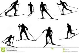 silhouette cross country skiing stock vector image 51687723