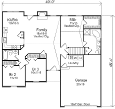 family floor plans simple ranch with vaulted family room 22000sl architectural