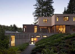 inspirations modern sloping house plans with walkout trends