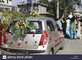 indian wedding car decoration wedding car decorated with roses stock photo royalty free
