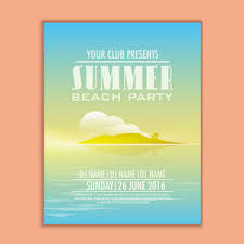summer vibes template banner flyer design for party celebration