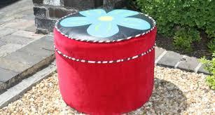 Funky Ottoman 11 Decorative Funky Footstool Lentine Marine 39415