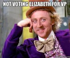 Elizabeth Meme - not voting elizabeth for vp make a meme
