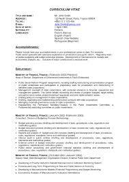 Resume Templates Sample Professional Sample Professional Resume Template