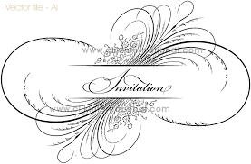 vintage calligraphy flourish ornament