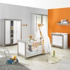 chambre bébé trio marléne armoire 3 portes cérusé blanc de geuther