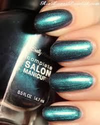 sally hansen complete salon manicure black and blue ria loves
