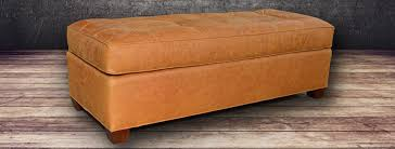 Leather Ottomans Leather Ottoman Grain And Top Grain Leather At