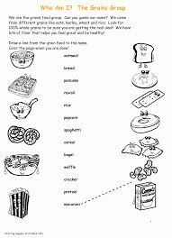 grains group healthy food coloring pages