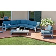 canapé d angle jardin salon de jardin en aluminium gris composé de 1 fauteuil 1 canapé d