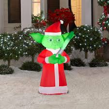 home depot inflatable christmas decorations must have this nolan will love it 3 5 ft airblown lighted