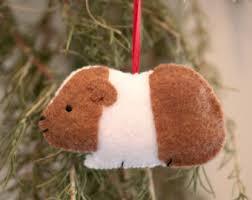 guinea pig ornament etsy