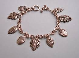copper charm bracelet images Bright design copper chain bracelet 9 1 2 inch solid cb639g 5 8 of jpg