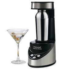 martini mixer the perfect martini maker hammacher schlemmer