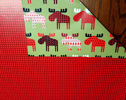 moose wrapping paper buffalo plaid moose reversible gift wrap rustic country