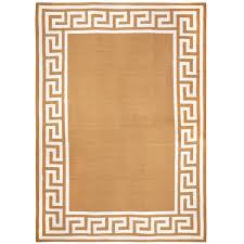 Flat Rug Greek Key Border Reversible Peruvian Llama Flat Weave Rug 8 X 10